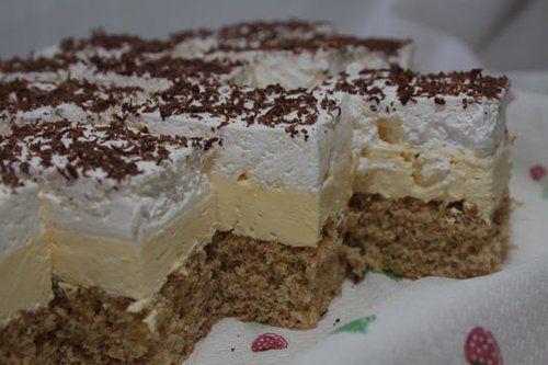 Diós habos sütemény